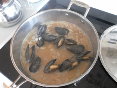 Mussels, cooked