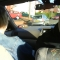 My Dad driving Mum and I to Turners Hill.