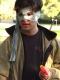Ari dons his mask...