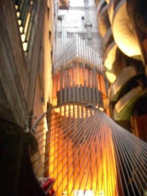 Three story pipe organ.