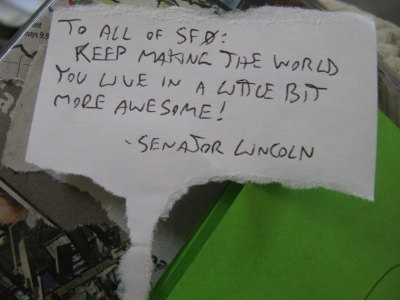 Lincoln's message