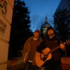 Buskers at Checkpoint 2