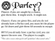 Parley?