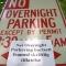 Nei Overnight Parkering