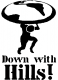 Down with Hills Stencil Logo by Bex.