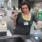 the awesome cashier strikes a pose