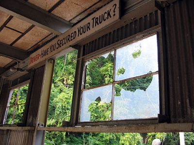 thistle mill truck parking, aug 05