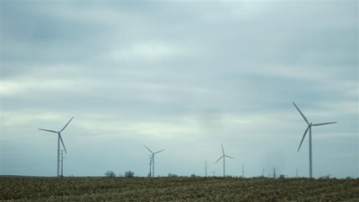 The wind farm.
