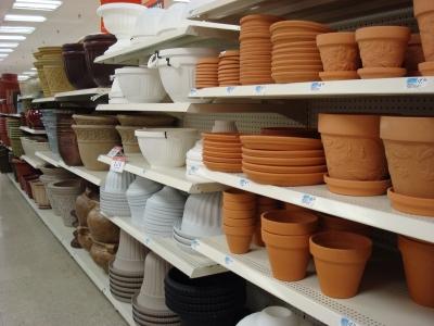 Many pots, no plants