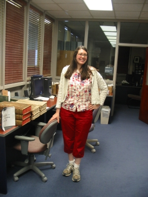 Wearing trousers and colour at work!!!