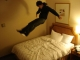 Jumping on hotel beds