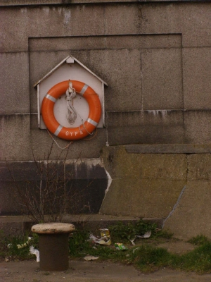 1- A life-ring on the side of Haven Bridge