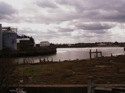 2 - Looking back towards the Grain Mill and Yarmouth from the riverside path
