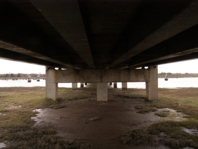 3 - Under Breydon Bridge, the traffic noise was in time with the music on my iPod