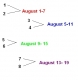 Dueling Schedule