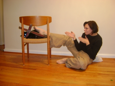 Maybe if I stop smoking I'll be able to do this from a standing position.