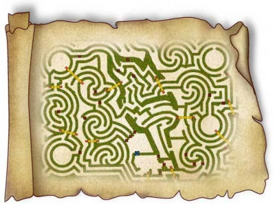 Concept drawing for the maze