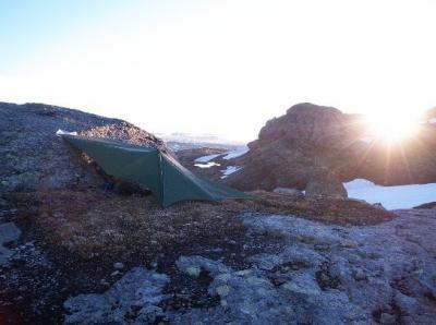 Tarp configuration, Hardangervidda, Norway