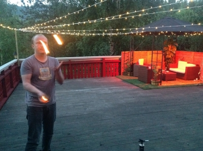 When we are not hammocking, we throw fireballs.